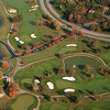Aerial view of the clubhouse at Beckett Ridge Country Club