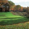 A view of the 6th green at Bull at Pinehurst Farms