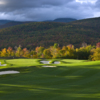 A view of the 1st green at Sunday River Golf Club