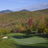 A view of hole #4 at Sunday River Golf Club