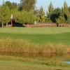 A view over the water of a green at Elkhorn Country Club
