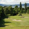 A view of the 4th hole surrounded by a collection of bunkers at Holywood Golf Club