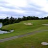 A view of green protected by bunker at Rocky Bayou Country Club