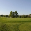A view of the 9th green at Dumfries and County Golf Club
