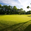 A view of a green with water coming into play at Cameron House