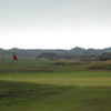 A view of the 18th hole at Aberdovey Golf Club