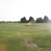 A sunny view of green at Parley Golf Centre