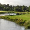 Water comes into play on several holes at Costa Del Sol Golf Club