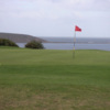 A view of the 18th hole at Main Course from Filey Golf Club