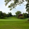 A view of green #18 at Oswestry Golf Club