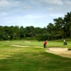 A view of fairway #1 at Camberley Heath Golf Club