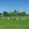 A view of the driving range tees at Landings Golf Club