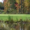 A view over the water of a hole at Rogues Roost Golf & Country Club