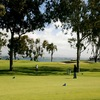 View from one of the greens from Coronado GC - San Diego Bay as backdrop