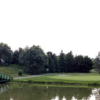 A view over the water of the 10th hole at Royal Stouffville Golf Course