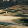 A view of a hole at Blue Mash Golf Course