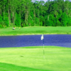 A view of a hole with water coming into play at Magnolia Plantation Golf Club