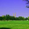A sunny day view from Newgulf Golf Club