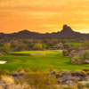 Sunset over #13 on Wickenburg Ranch Golf Course