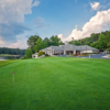 A view of the clubhouse at Stone Mountain Golf Course