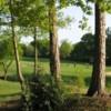 A view through the trees of Cheadle Golf Club
