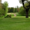 View of the 5th hole and bunkers from the tee at Kidderminster Golf Club