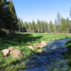 View of the 18th hole at Tahoe Donner Golf Club