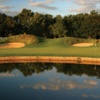 Sunset view of the 4th green at Bear Slide Golf Club