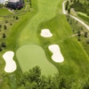 Aerial view of a green at Deer Creek Golf Club