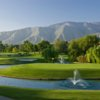 A view of a green surrounded by water at Pauma Valley Country Club