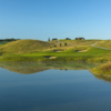 View of the bunkered 15th green at Ballyowen Golf Club