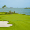 View of the par-4 10th hole at Moody Gardens Golf Course