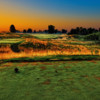 The 15 hole at Purgatory Golf Club just after sunrise from the tees.