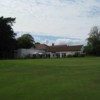 View of the 18th green and clubhouse at Dore and Totley Golf Club