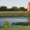 Stunning view over the pond to the clubhouse