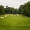 View of a green and bunkers at Spook Rock Golf Course