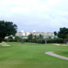 View of a fairway and green at Orangebrook Country Club