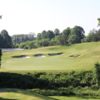 Heavily bunkered green at Inniscrone Golf Club