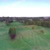 Musselburgh GC: aerial view of the opening and finishing holes