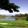 A view of tee #17 at Makani Golf Club