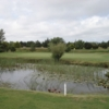 A view over the pond at Newport Golf Club