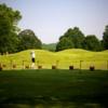 A view of the driving range tees at Fox Chapel Golf Club
