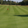 A view of a green at Red Course from Frilford Heath Golf Club