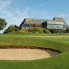 A view of a green and the clubhouse at Marlborough Golf Club