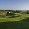 View of the 8th green from Bann course at Castlerock Golf Club