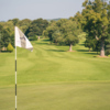 Looking back from a green at Edenmore Golf and Country Club