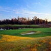 Dye Course at Barefoot Resort: greens #18 and #9