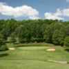 A hole flanked by bunkers at Westlake Golf & Country Club