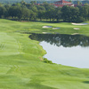 A view from tee of the 9th green at Orange County National - Panther Lake Course