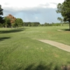 A view of tee #9 at Copperas Hollow Country Club.